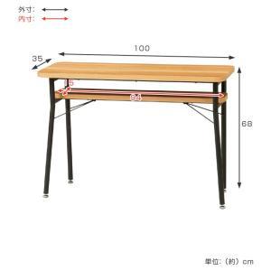 ダイニング カウンターテーブル スチールフレーム ケティル 幅100cm ( テーブル カウンター ハイテーブル アイアン バーテーブル 木製 おしゃれ )|interior-palette|02
