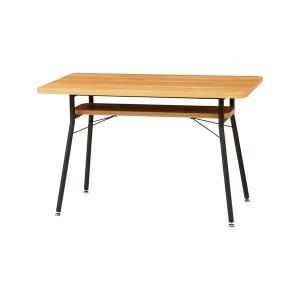 ダイニングテーブル スチールフレーム ケティル 幅110cm ( テーブル アイアン 木製 おしゃれ デスク 作業台 棚 リビング ダイニング ) interior-palette
