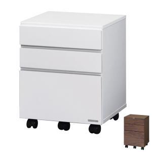 デスクワゴン サイドチェスト 3段 FARE 幅42cm ( サイドワゴン キャスター付き ウォールナット デスク 学習机 机 勉強机 )|interior-palette