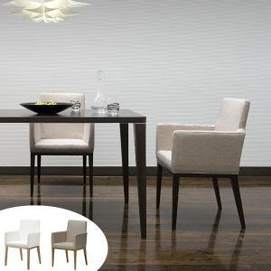 ダイニングチェア アームチェアー 椅子 天然木脚 座面高44cm ( ダイニング チェア チェアー 椅子 イス シンプル ベーシック ホワイト ナチュラル 北欧 )|interior-palette