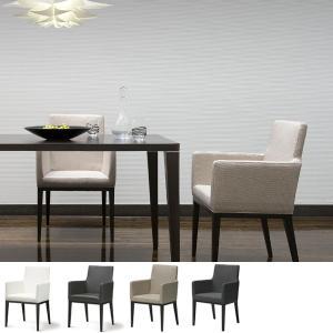 ダイニングチェア アームチェアー 椅子 天然木脚 座面高44cm ( ダイニング チェア チェアー 椅子 イス シンプル ベーシック ホワイト ブラック 北欧 )|interior-palette