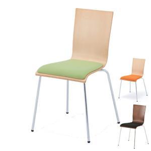 オフィスチェア プライウッドチェア パッド付 シンプル チェア イス オフィス用 ( 椅子 オフィス スタッキング スタッキングチェア )|interior-palette