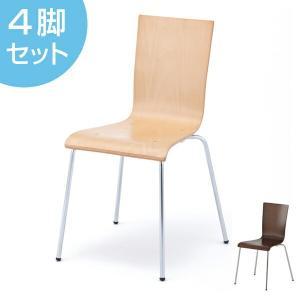 オフィスチェア プライウッドチェア 4脚セット シンプル チェア イス オフィス用 ( 椅子 オフィス スタッキング スタッキングチェア )|interior-palette