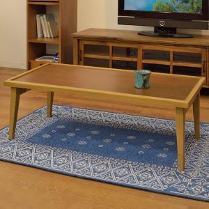ローテーブル 折りたたみ センターテーブル 天然木 Recto 幅105cm ( テーブル 座卓 木製 ) interior-palette