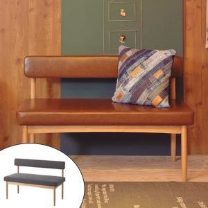 ベンチ 背もたれ付 天然木脚 北欧風 ecomo 幅110cm ( チェアー 長椅子 椅子 )|interior-palette