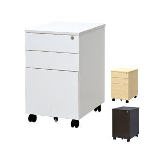 ワークデスク専用 サイドワゴン キャスター付き 引出し 3段 幅40cm ( デスクワゴン パソコンデスク デスク 収納 ラック ワゴン オフィス ワークデスク )|interior-palette