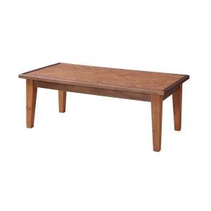 コーヒーテーブル ローテーブル 天然木 ヘリンボーン 幅110cm ( テーブル カフェテーブル カフェ 110cm 110 四角 長方形 木製 おしゃれ シンプル ) interior-palette