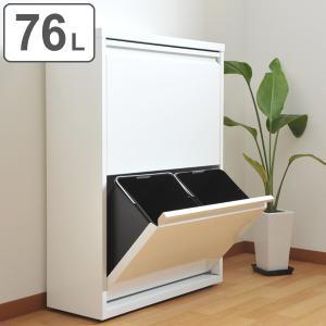 ダストボックス 2段 ゴミ箱 4分別 スチール製 幅65.5cm ( ごみばこ ごみ箱 ダスト スチール 分別 19L 19リットル フタつき ふた付き 角型 スリム )|interior-palette