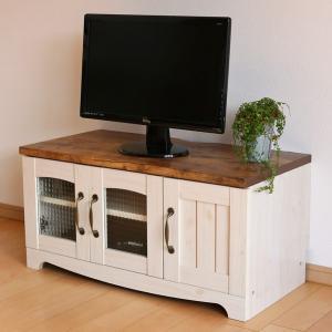 テレビ台 ローボード カントリー調 幅80cm ( テレビ AVボード ローボード テレビラック カントリー 80cm )|interior-palette