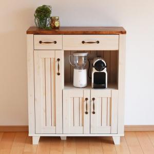 食器棚 キャビネット カントリー調 幅75cm ( キッチン収納 キッチン家具 収納 キッチン )|interior-palette
