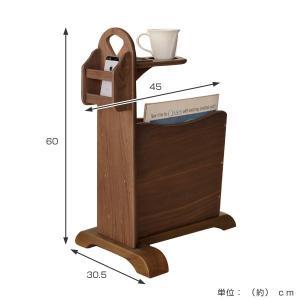 サイドテーブル マガジンラック付 天然木 コーヒーテーブル トムテ 幅45cm ( 完成品 テーブル ウォールナット ラック 北欧 木製 ) interior-palette 02