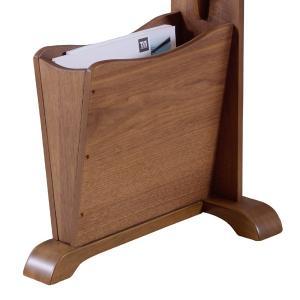 サイドテーブル マガジンラック付 天然木 コーヒーテーブル トムテ 幅45cm ( 完成品 テーブル ウォールナット ラック 北欧 木製 ) interior-palette 05