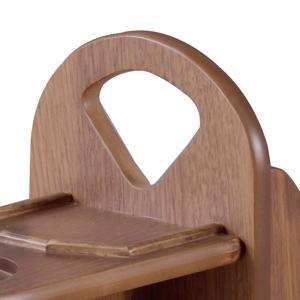 サイドテーブル マガジンラック付 天然木 コーヒーテーブル トムテ 幅45cm ( 完成品 テーブル ウォールナット ラック 北欧 木製 ) interior-palette 06
