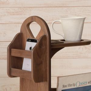 サイドテーブル マガジンラック付 天然木 コーヒーテーブル トムテ 幅45cm ( 完成品 テーブル ウォールナット ラック 北欧 木製 ) interior-palette 08