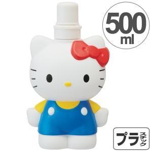ダイカットブローボトル ハローキティ ダイカット 500ml ( 子供用水筒 プラスチック製 ウォー...