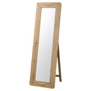 スタンドミラー 天然木 エスニック風 幅48cm ( ミラー 姿見 かがみ 鏡 )|interior-palette