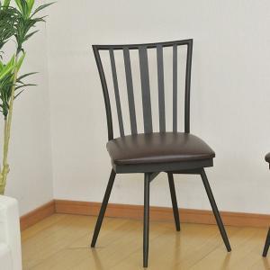 ダイニングチェア 回転式 スチールフレーム ウィンザー調 座面高43cm ( チェア チェアー 椅子 いす イス 回転イス )|interior-palette