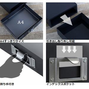 【週末限定クーポン】ライフモデュール ファイルケース A4 横 モノトーン ( 収納 ボックス 小物入れ レターケース )|interior-palette|08