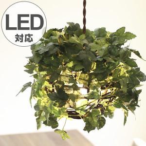 ペンダントライト 1灯 ラタン アイビー グリーン 天井照明 LED対応 CT触媒 ( 照明 照明器具 おしゃれ )|interior-palette