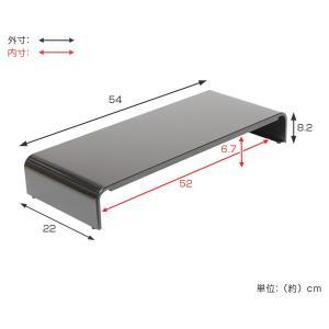 モニタースタンド パソコンラック 卓上 pc台 机上 スチール製 幅54cm ( モニター台 モニターラック パソコン )|interior-palette|05
