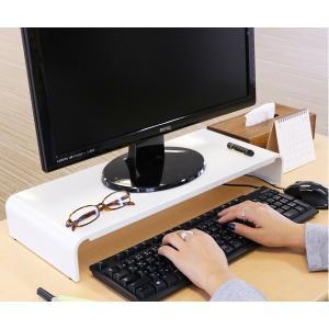 モニタースタンド パソコンラック 卓上 pc台 机上 スチール製 幅54cm ( モニター台 モニターラック パソコン )|interior-palette|06