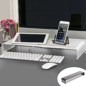 シンプルなスチール製の机上ラックです。モニターの前に置けば、散らかりがちな文具やスマホ置き場にもなり...
