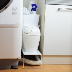 【週末限定クーポン】排水口カバー 洗濯機排水口カバー&ラック 幅15cm 隙間収納 日本製 ( ランドリー収納 目隠し 洗濯機横 )|interior-palette|06