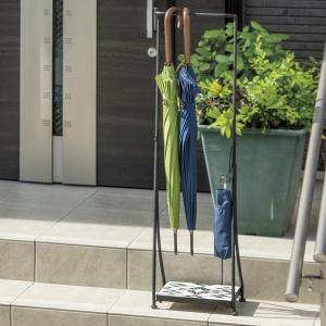 傘立て アンブレラホルダー モザイクタイル フック付き ネイティブ ( 傘 玄関 収納 )|interior-palette