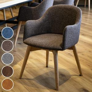 ダイニングチェア アームチェア 天然木脚 北欧風 カラメリ ( 椅子 イス いす )|interior-palette