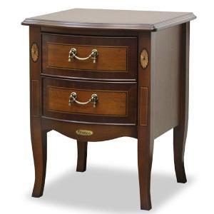 【週末限定クーポン】ナイトテーブル サイドテーブル クラシック調 猫脚 Venezia 幅40cm ( 天然木 机 つくえ テーブル 完成品 )|interior-palette