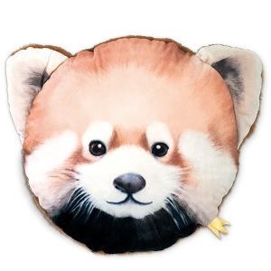 【今だけポイント5倍】クッション キスミーアニマル KISS ME ANIMAL CUSHION レッサーパンダ ( 動物 インテリア 丸 )|interior-palette