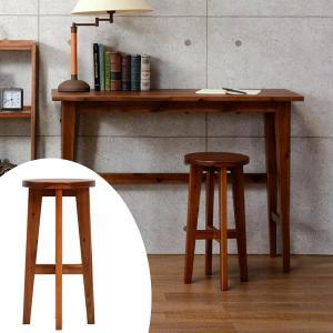 ハイスツール 丸椅子 天然木 エスニック調 UMBER 高さ60cm  ( 椅子 イス いす チェア チェアー     )|interior-palette