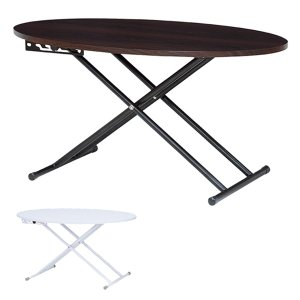 ■在庫限り・入荷なし■ リフティングテーブル オーバル型 高さ調節 幅95cm ( 机 テーブル ローテーブル センターテーブル ) interior-palette
