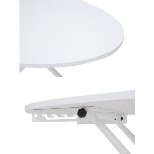 ■在庫限り・入荷なし■ リフティングテーブル オーバル型 高さ調節 幅95cm ( 机 テーブル ローテーブル センターテーブル ) interior-palette 04