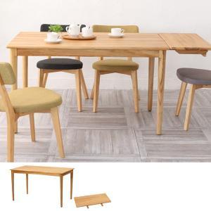 ダイニングテーブル 食卓 天然木 チーク材 エクステンションボード付 幅125cm ( 木製 テーブル センターテーブル リビングテーブル )|interior-palette