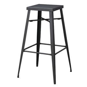 ハイスツール スチール製 スタイリッシュ グラファイト 高さ69cm ( 椅子 イス いす チェア チェアー ハイチェア )|interior-palette