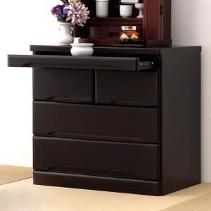 仏壇チェスト 3段 桐製 スライドテーブル付 幅60cm ( 完成品 書類収納 木製 桐 桐チェスト )|interior-palette