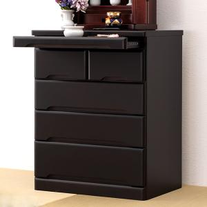 仏壇チェスト 4段 桐製 スライドテーブル付 幅60cm ( 完成品 書類収納 木製 桐 桐チェスト )|interior-palette
