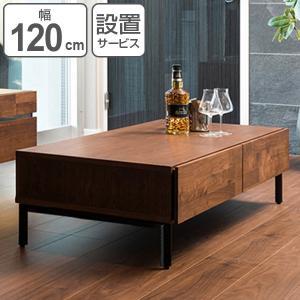 【ポイント最大26倍】ローテーブル リビングテーブル スチール脚 ウォールナット ANIMA 幅120cm ( センターテーブル テーブル 机 )|interior-palette