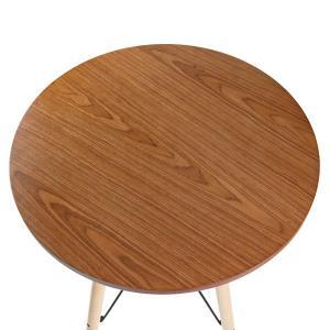 カウンターテーブル 丸テーブル 木目調 ミッドセンチュリー KNOX ( 完成品 ハイテーブル テーブル バーテーブル 机 )|interior-palette|04