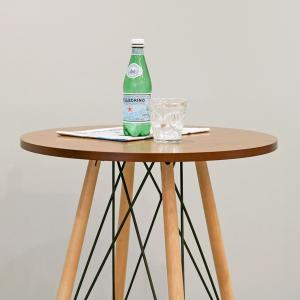カウンターテーブル 丸テーブル 木目調 ミッドセンチュリー KNOX ( 完成品 ハイテーブル テーブル バーテーブル 机 )|interior-palette|07