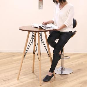 カウンターテーブル 丸テーブル 木目調 ミッドセンチュリー KNOX ( 完成品 ハイテーブル テーブル バーテーブル 机 )|interior-palette|08