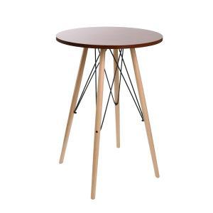 カウンターテーブル 丸テーブル 木目調 ミッドセンチュリー KNOX ( 完成品 ハイテーブル テーブル バーテーブル 机 )|interior-palette|09