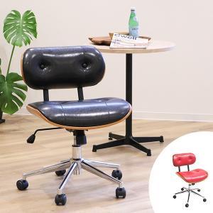 オフィスチェア ミッドセンチュリー風 ダンディチェア レザー調 ( チェア チェアー イス いす 椅子 )|interior-palette