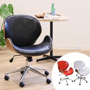 オフィスチェア ミッドセンチュリー風 ノースチェア レザー調 ( チェア チェアー イス いす 椅子 )|interior-palette