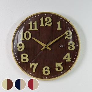 掛け時計 ブリュレ 壁掛け 時計 アナログ インテリア 北欧 ( 木調 壁掛け時計 雑貨 ) interior-palette