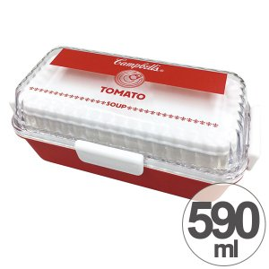 特価 お弁当箱 スクエアランチボックス 2段 キャンベル 590ml ( 弁当箱 レンジ対応 日本製 )|interior-palette