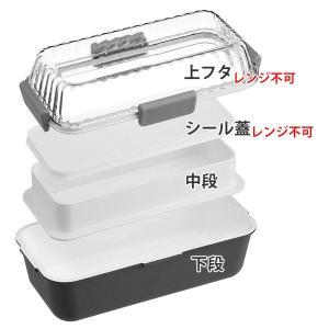 特価 お弁当箱 スクエアランチボックス 2段 キャンベル 590ml ( 弁当箱 レンジ対応 日本製 )|interior-palette|02