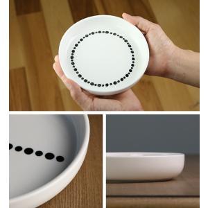 プレート M 16cm ドット 白 磁器 食器 同柄5枚セット ( 食洗機対応 電子レンジ対応 ケーキ デザート 皿 ) interior-palette 07