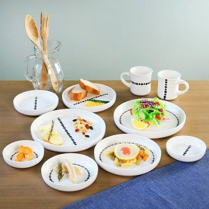 プレート M 16cm ドット 白 磁器 食器 同柄5枚セット ( 食洗機対応 電子レンジ対応 ケーキ デザート 皿 ) interior-palette 09